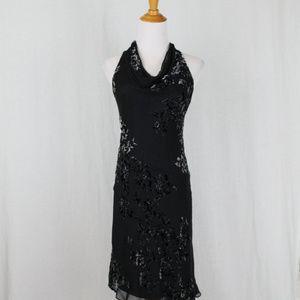 Vintage Jones New York Beaded Silk Velvet Dress